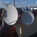 Крепеж и установка спутниковой антенны