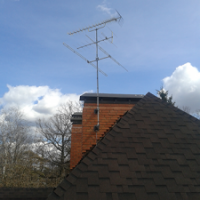 Установка эфирной антенны на крыше